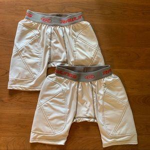 Lot of 2 Rawlings Youth Padded Sliding Shorts